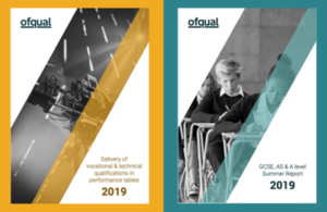 Front covers of two Ofqual reports