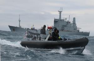 HMS Scott at sea
