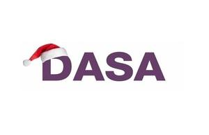 DASA logo with Santa hat