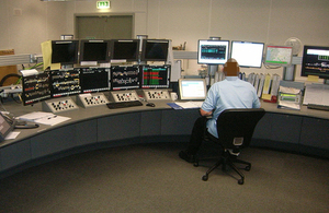 Image of the Machynlleth control centre