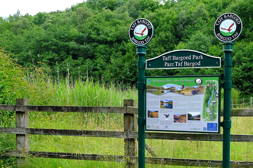 Taff Bargoed Millennium Park, a major land reclamation project undertaken by Merthyr Tydfil and Rhonnda Cynon Taff County Borough Councils, together with Groundwork Merthyr.