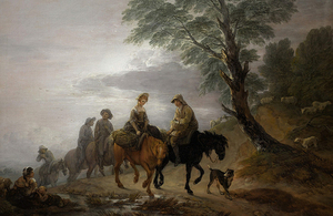 'Going to Market, Early Morning' by Thomas Gainsborough