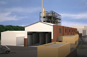 Artist's impression of a low carbon fuel production facility