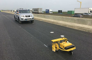 The pre-marking robot in use on Highways England's £1.5 billion A14 Cambridge to Huntingdon upgrade