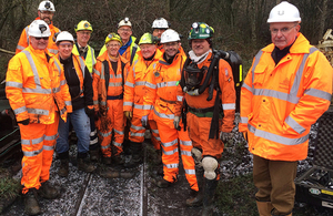 The Coal Authority worked with other relevant bodies, including Network Rail and North East Derbyshire District Council.