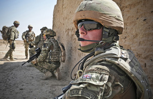 Members of the RAF Regiment conduct a routine patrol near Camp Bastion (library picture) [Picture: Corporal Mike Jones RAF, Crown copyright]