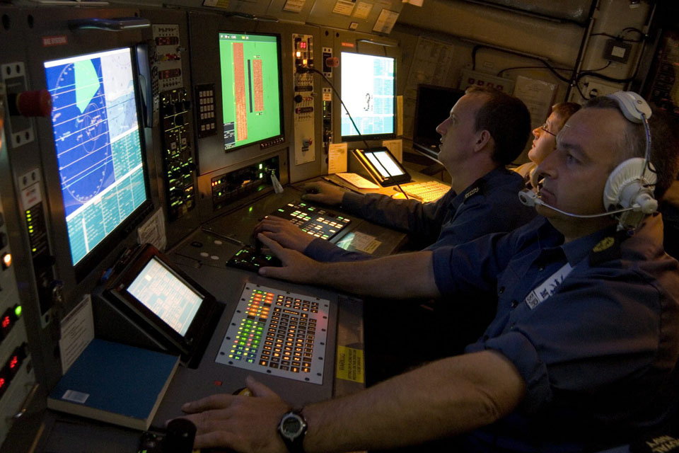 Royal Navy mine countermeasures personnel at work