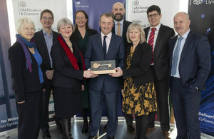 Welsh Secretary accepts keys to new UK Government hub in Cardiff