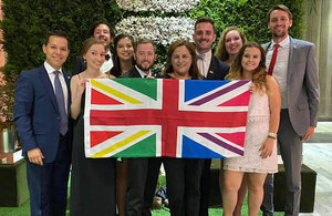 """A group of Embassy staff participated in the """"Night for Equality"""" on 9 January to celebrate the advances in the promotion of LGBT+ rights in Chile."""