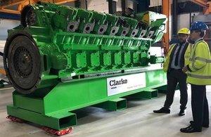 Minister Murrison visits Clarke Energy