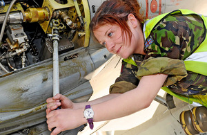 An RAF specialist technician working on an aircraft (stock image) [Picture: Corporal B Robinson, Crown copyright]
