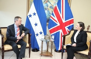 British Ambassador Nick Whittingham with Norma Cerrato from Honduras