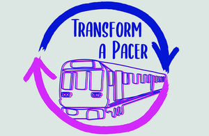 Transform a Pacer competition logo.