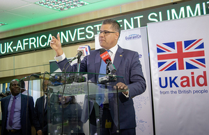 International Development Secretary Alok Sharma, pictured at the Nairobi Securities Exchange during a visit to Kenya ahead of the Africa Investment Summit