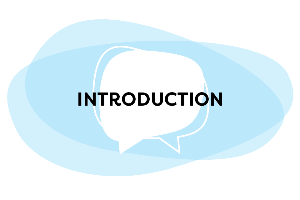 Introduction Speech Bubble Graphic