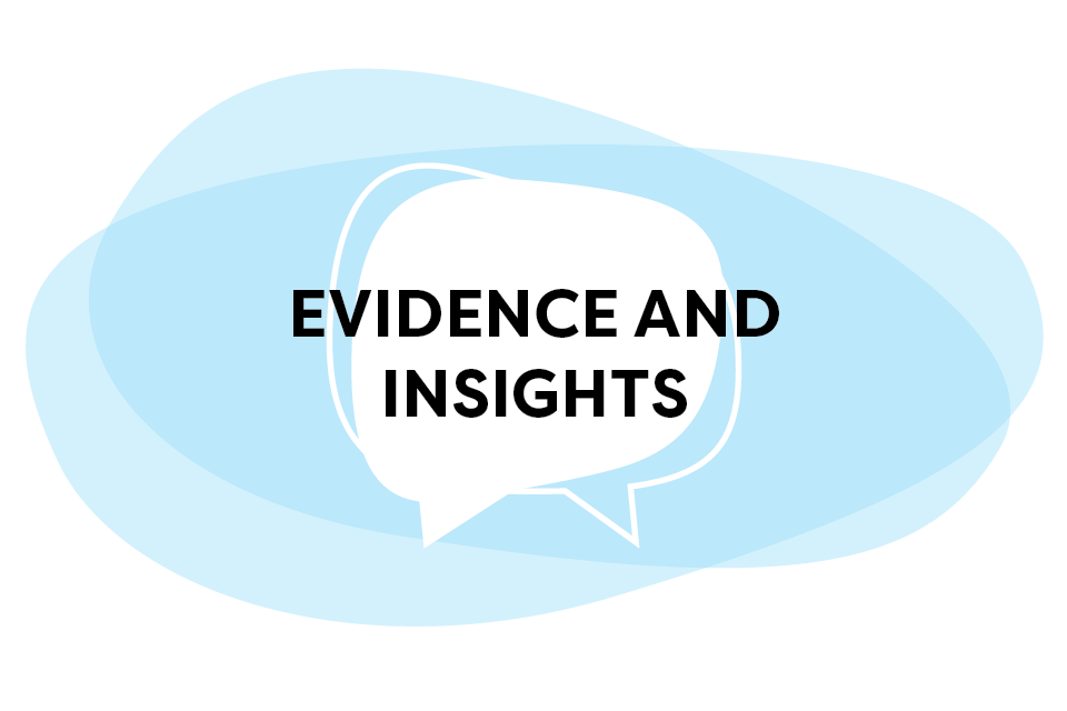 Evidence and Insights Speech Bubble Graphic