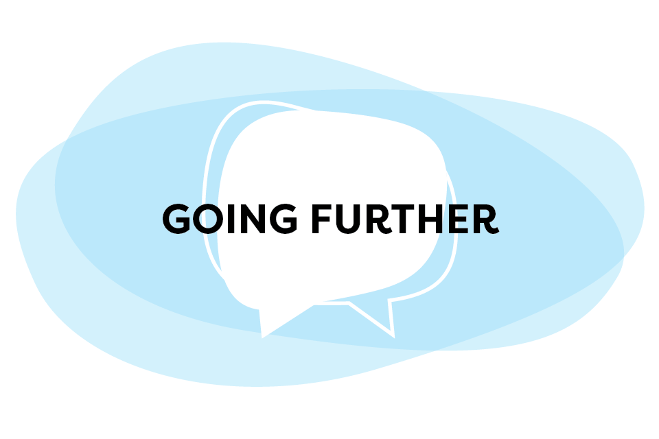 Going Further Speech Bubble Graphic