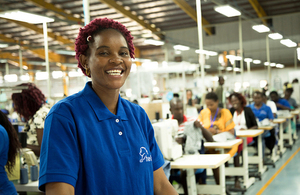 Worker at a textile factory in Ethiopia. Picture: DFID/Anna Dubuis