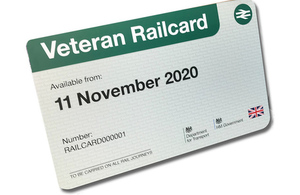 Image of the veterans rail card.