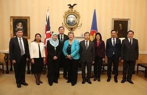 Minister Heather Wheeler with senior diplomats