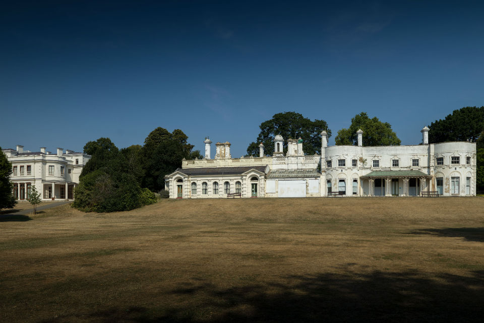 The mansion at Gunnersbury Park.