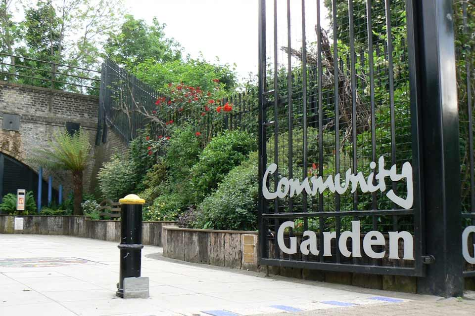 Gates to the Haringey Community Garden