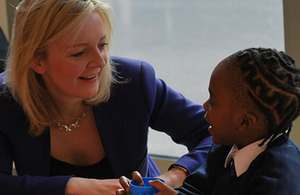 Education and Childcare Minister Elizabeth Truss