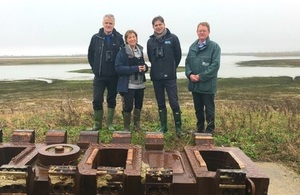Minister Pow with representatives of RSPB, NE and EA.