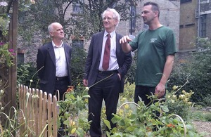 Andrew Stunell at a city farm