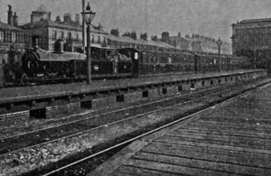 Steam train at Fleetwood railay station.