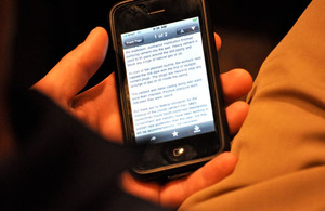 Smart phone user by joeshoe on Flickr
