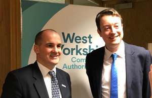 Ministers Simon Clarke and Jake Berry meeting in Leeds to discuss devolution