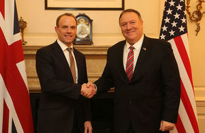Foreign Secretary Dominic Raab and US Secretary of State Mike Pompeo