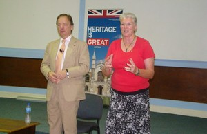 Minister of State Hugo Swire and British High Commissioner Jackie Barson
