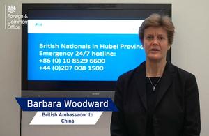 British Ambassador to China, Barbara Woodward