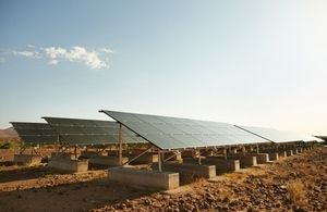 solar panels in a hot country