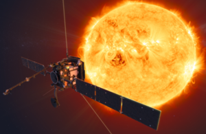 Image of European Space Agency mission, Solar Orbiter, at the Sun