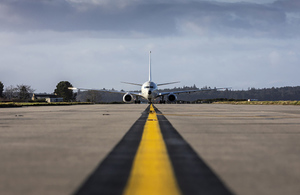 Image depicts P-8A aircraft on runway