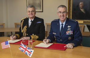 Vice Chief of the Defence Staff, Admiral Tim Fraser, and his US counterpart General John Hyten