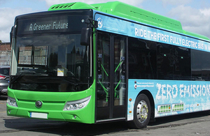 Britain's first all-electric bus town to pave the way for green communities of the future