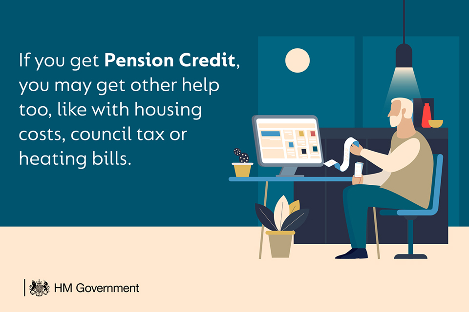 If you get Pension Credit, you may get other help too, like with housing costs, council tax or heating bills.