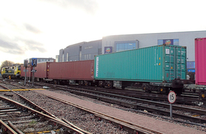 Photograph showing the derailed wagons