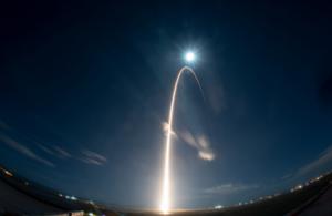 Photograph of Solar Orbiter launch