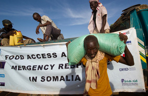 Food aid being delivered in Somalia, January 2012. Picture: Arthur Edwards/The Sun