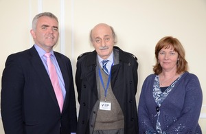 Walid Joumblatt with Junior Ministers Bell and McCann