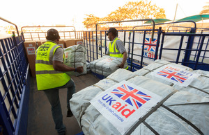 UK aid goes to humanitarian disasters worldwide