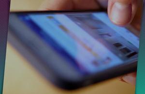 Thumb on phone