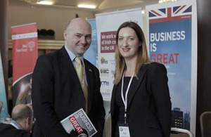 Paul Caplis, Head of Investment, UKTI Dublin with Siobhan Horan, UKTI Bristol