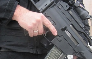 Armed CNC officer