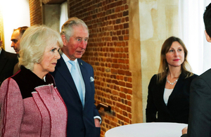 The Prince of Wales and Duchess of Cornwall visit the Cabinet Office